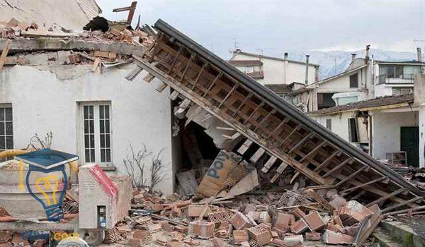 بحث عن الزلازل والمجتمع